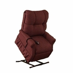 Economy Model Two Way Reclining Power Lift Chair with Magazine Pocket - Dawson Maroon Fabric [1155DM-FS-MEDL]