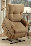 Economy Model Two Way Reclining Power Lift Chair with Magazine Pocket - Dawson Tan Fabric [1155DT-FS-MEDL]