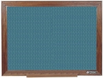 114 Series Wood Frame Tackboard - Designer Fabric - 36''W x 24''H [114D-CLA]