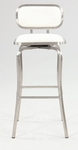 1192 Modern Swivel Bar Stool in White Polyurethane [1192-BS-WHT-FS-CTY]