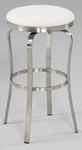 1193 Modern Backless Bar Stool in White Polyurethane [1193-BS-WHT-FS-CTY]