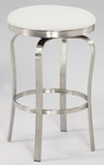 1193 Modern Backless Counter Stool in White Polyurethane [1193-CS-WHT-FS-CTY]