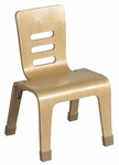 12''H Birch Stacking Uni-Body Design Bentwood Chair with Non-Scuff Boots - Natural [ELR-0645-NT-ECR]