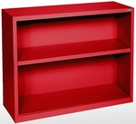 Elite Series 34.50'' W x 12.63'' D x 30'' H Two Shelf Welded Bookcase - Red [BA10-341230-01-EEL]