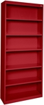 Elite Series 34.50'' W x 12.625'' D x 82'' H Six Shelf Welded Bookcase - Red [BA50-341282-01-EEL]