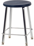 120 Series Stool with Soft Round Plastic Seat - 16.5''W x 16.5''D x 17.75''H [12018-VCO]