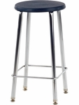 120 Series 24''H Stool with Soft Plastic Seat [12024-VCO]