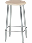 121 Series 24''H Stool with Hard Plastic Seat [12124-VCO]
