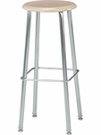 121 Series 30''H Stool with Hard Plastic Seat [12130-VCO]