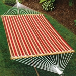 Polyester Fabric and Rope Pocket Design 13' Hammock - Autumn Stripe [2789W175C-FS-ALG]