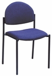 1300 Series Stacking Armless Guest Chair with Rounded Back and 1.5'' Upholstered Seat [1310-IFK]