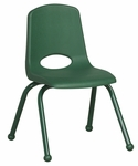 14''H Vented Back Stacking Chair with Matching Legs and Ball Glides - Green [ELR-2194-GN-ECR]