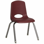 14''H Vented Back Stacking Chair with Chrome Legs and Nylon Swivel Glides - Burgundy [ELR-0194-BYG-ECR]