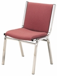 1400 Series Stacking Armless Hospitality Chair with Square Full Back and 2'' Upholstered Seat [1420-IFK]