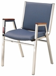 1400 Series Stacking Hospitality Armchair with Square Full Back and 2'' Upholstered Seat [1421-IFK]