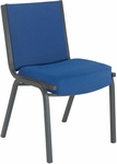 1400 Series Stacking Armless Hospitality Chair with Square Full Back and 4'' Upholstered Seat [1440-IFK]