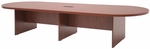 Legacy 144''W Modular Racetrack Wooden Conference Table with Power Data Grommet - Cherry [LCTRT14452DPELCH-FS-REG]