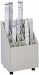 15.25'' W x 13.25'' D x 23.25'' H Twenty Compartment Mobile Roll File - Putty [3082-FS-SAF]