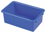 Stackable Heavy Duty Polypropylene Plastic Storage Tubs without Lids - Blue [ELR-0101-BL-ECR]