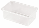 Stackable Heavy Duty Polypropylene Plastic Storage Tubs without Lids - Clear [ELR-0101-CL-ECR]