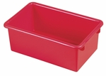 Stackable Heavy Duty Polypropylene Plastic Storage Tubs without Lids - Red [ELR-0101-RD-ECR]