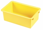 Stackable Heavy Duty Polypropylene Plastic Storage Tubs without Lids - Yellow [ELR-0101-YE-ECR]
