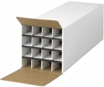 12.75'' W x 37'' D x 12.50'' H Compact KD Roll File with Sixteen Compartments - White [3098-FS-SAF]