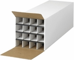 12.5'' H Compact KD Sixteen Compartment Roll File - White [3098-FS-SAF]
