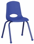 16''H Vented Back Stacking Chair with Matching Legs and Ball Glides - Blue [ELR-2195-BL-ECR]