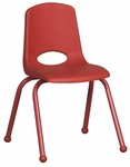 16''H Vented Back Stacking Chair with Matching Legs and Ball Glides - Red [ELR-2195-RD-ECR]