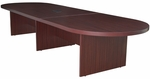 Legacy 168''W Modular Racetrack Wooden Conference Table with Power Data Grommet - Mahogany [LCTRT16852DPELMH-FS-REG]
