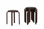17'' Bentwood Stool - Wenge - Set Of 4 [1771WENG-04-AS-U-FS-LIN]