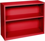 Elite Series 36'' W x 18'' D x 30'' H Two Shelf Welded Bookcase - Red [BA10-361830-01-EEL]