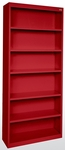 Elite Series 36'' W x 18'' D x 84'' H Six Shelf Welded Bookcase - Red [BA50-361884-01-EEL]