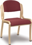 1900 Series 2'' Seat Armless Upholstered Stack Chair with Wood Frame [1920-IFK]