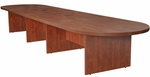 Legacy 192''W Modular Racetrack Wooden Conference Table with 2 Power Data Grommets - Cherry [LCTRT19252DPELCH-FS-REG]