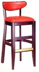 1940 Bar Stool w/ Upholstered Back and Seat - Grade 2 [1940-GRADE2-ACF]