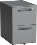 Mobile 15.50'' W x 23'' D Pedestal with 2 Drawers - Gray [66200-GRY-MFO]