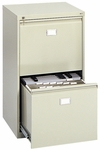 23.25'' W x 24'' D x 40.50'' H Two Drawer Vertical File Cabinet - Tropic Sand [5039-SAF]