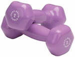 2 lb Pair Vinyl Dumbbells-Light Purple [BSTVD2PR-FS-BODY]