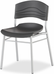 CafeWorks Cafe and Bistro 32'' H Chair - Set of Two - Graphite [64517-ICE]