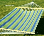 Polyester Fabric and Rope Pocket Design 11' Hammock - Hampton Bay Summer Stripe [2790W68-FS-ALG]