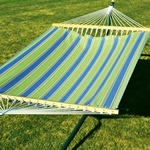 Polyester Fabric and Rope Pocket Design 13' Hammock - Hampton Bay Summer Stripe [2789W68-FS-ALG]
