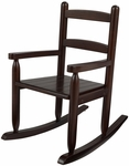 Classic Style Childs Indoor Wooden Rocker with Two-Slat Back - Espresso [18153-FS-KK]