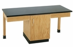 2 Station Science Table with Plain Apron,Door Cabinet,and Laminate Top [2101K-DW]