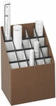 15'' W x 12'' D x 22'' H Twenty Compartment Upright Roll File - Walnut [3081-FS-SAF]