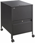20'' W x 25.5'' D x 27.75'' H Extra Deep Locking Legal Size Mobile Tub File with Drawer - Black [5365BL-SAF]