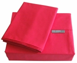 200 Thread Count Fuchsia Solid Color Bright Sheet Set - Twin