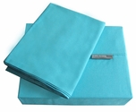 200 Thread Count Teal Solid Color Bright Sheet Set - Twin