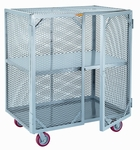 2000 lb Capacity Mobile Storage Locker With 1 Center Shelf [SC-2448-6PPY-LGC]